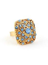 Flower Ring blue