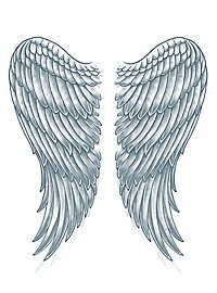 Flügel Klebe-Tattoo XL