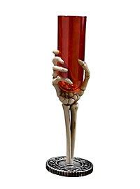 Flûte main de squelette rouge