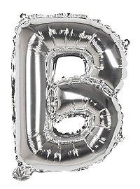 Folienballon Buchstabe B silber 36 cm