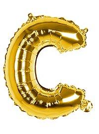 Folienballon Buchstabe C gold 36 cm