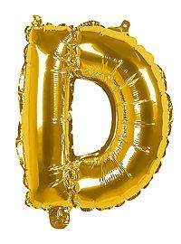 Folienballon Buchstabe D gold 36 cm