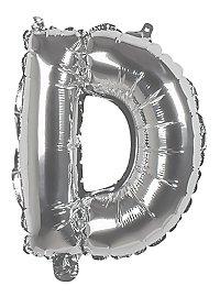 Folienballon Buchstabe D silber 36 cm