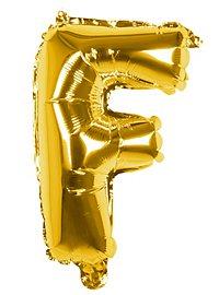 Folienballon Buchstabe F gold 36 cm
