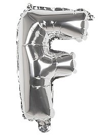 Folienballon Buchstabe F silber 36 cm