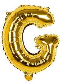 Folienballon Buchstabe G gold 36 cm