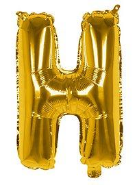 Folienballon Buchstabe H gold 36 cm