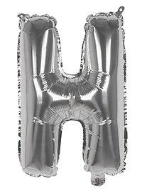Folienballon Buchstabe H silber 36 cm