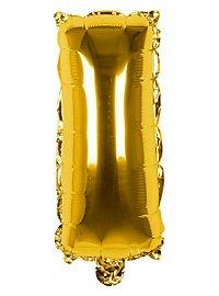 Folienballon Buchstabe I gold 36 cm