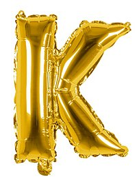 Folienballon Buchstabe K gold 36 cm