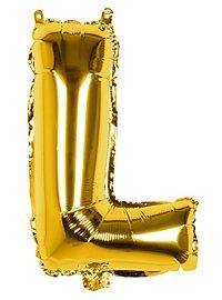 Folienballon Buchstabe L gold 36 cm