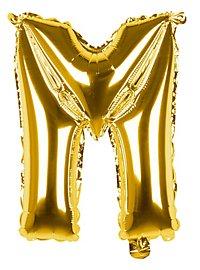 Folienballon Buchstabe M gold 36 cm