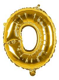 Folienballon Buchstabe O gold 36 cm