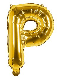 Folienballon Buchstabe P gold 36 cm