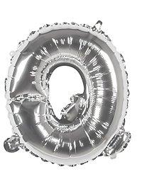 Folienballon Buchstabe Q silber 36 cm