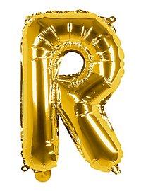 Folienballon Buchstabe R gold 36 cm