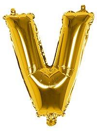 Folienballon Buchstabe V gold 36 cm