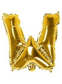 Folienballon Buchstabe W gold 36 cm