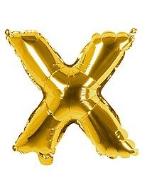 Folienballon Buchstabe X gold 36 cm