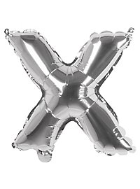 Folienballon Buchstabe X silber 36 cm