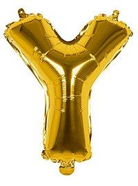 Folienballon Buchstabe Y gold 36 cm
