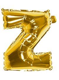 Folienballon Buchstabe Z gold 36 cm