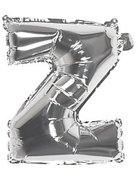 Folienballon Buchstabe Z silber 36 cm