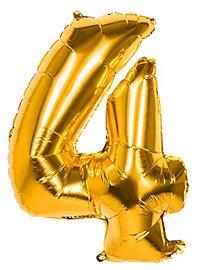 Folienballon Zahl 4 gold 86 cm