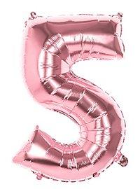 Folienballon Zahl 5 rosegold 86 cm