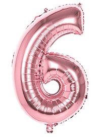 Folienballon Zahl 6 rosegold 86 cm