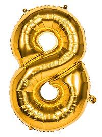 Folienballon Zahl 8 gold 86 cm