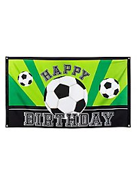 "Football flag ""Happy Birthday"""