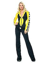 Formel 1 Anzug schwarz-gelb Kostüm