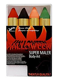 Four extra thick Halloween Make-up Pencils