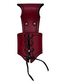 Fourreau de dague à laçage rouge