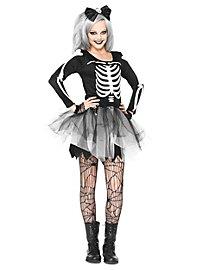 Fräulein Skelett Kostüm für Jugendliche