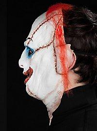 Frankenclown Halbmaske aus Latex