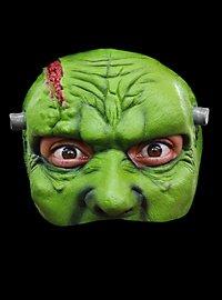 Frankensteins Monstergesicht Halbmaske aus Latex