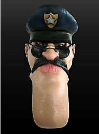 Funny Mask Cop Made of Latex