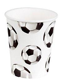 Fußball Pappbecher 6 Stück