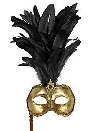 Galletto Colombina oro con bastone - Venezianische Maske