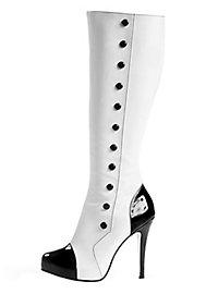 Gamaschen Stiefel schwarz-weiß