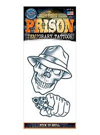 Gangster Schädel Klebe-Tattoo
