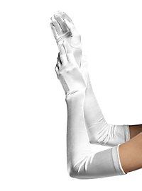 Gants blancs extra longs en satin