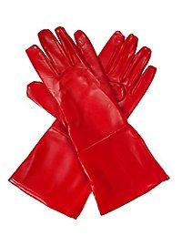 Gants de super-héros rouges