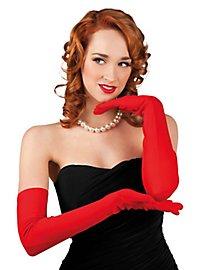 Gants d'opéra rouges