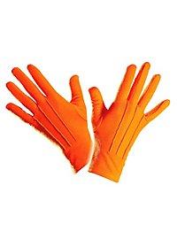 Gants en tissu orange