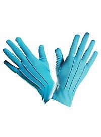 Gants en tissu turquoise