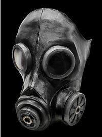 Gasmaske schwarz aus Latex