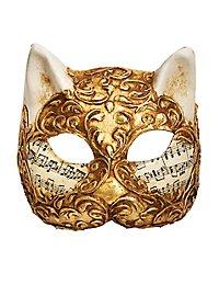 Gatto stucco oro musica Masque vénitien